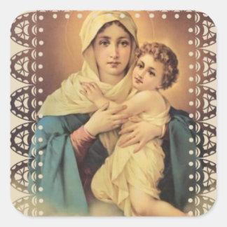 Our Lady of Schoenstatt Virgin Mary Jesus Square Sticker