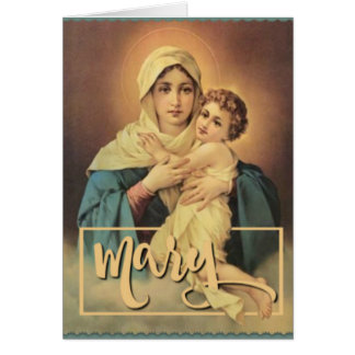 Our Lady of Schoenstatt with Baby Jesus Card