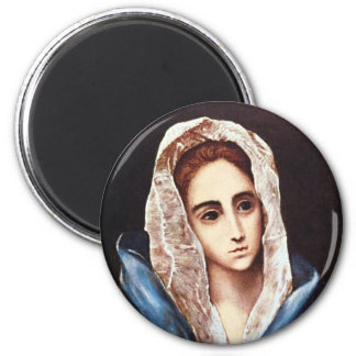 Our Lady of Sorrows 6 Cm Round Magnet