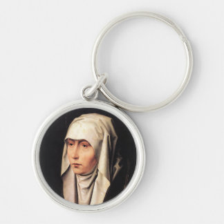 Our Lady of Sorrows Silver-Colored Round Key Ring