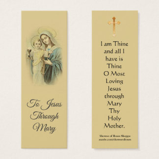 Our Lady of the Blessed Sacrament Mini Holy Card