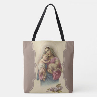 Our Lady of the Good Shepherd Jesus Lamb Tote Bag