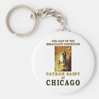 OUR LADY of the IMMACULATE CONCEPTION Basic Round Button Key Ring