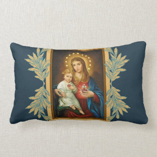 Our Lady of the Immaculate & Sorrowful Heart Mary Lumbar Cushion