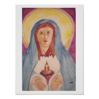 Our Lady of the Open Hands Print