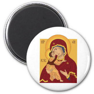 Our Lady of the Vladimir 6 Cm Round Magnet