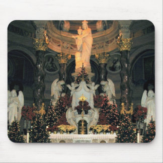Our Lady of Victory Basilica Main Altar -Christmas Mouse Pad