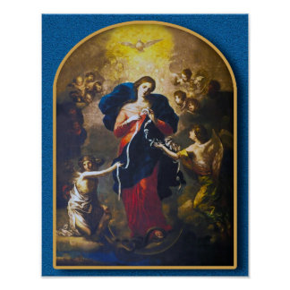 Our Lady Undoer of Knots Poster