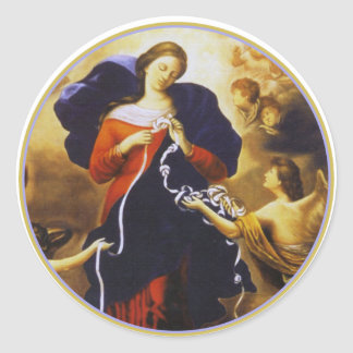 Our Lady Untier of Knots Classic Round Sticker