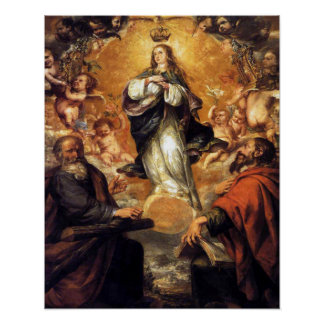 Our Lady Virgin Immaculate Heart of Mary 4 Poster