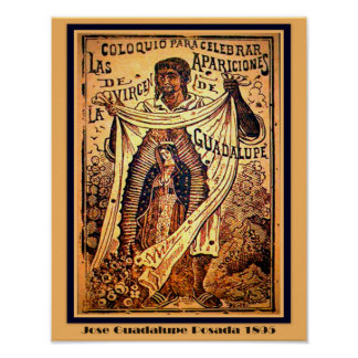 Our Lady Virgin Mary -Jose Guadalupe Posada Poster
