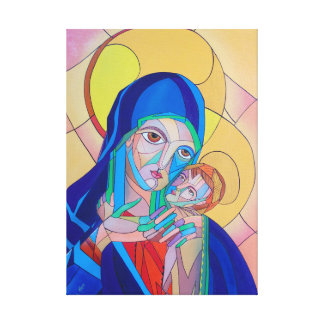 Our Lady with the Child Jesus Canvas Print