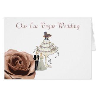 Our Las Vegas Wedding Card