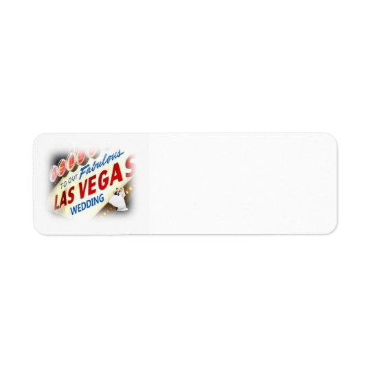 Our Las Vegas Wedding Label Return Address Label
