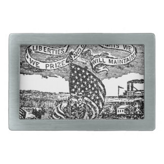 Our Liberties We Prize, Rights We Maintain Rectangular Belt Buckle