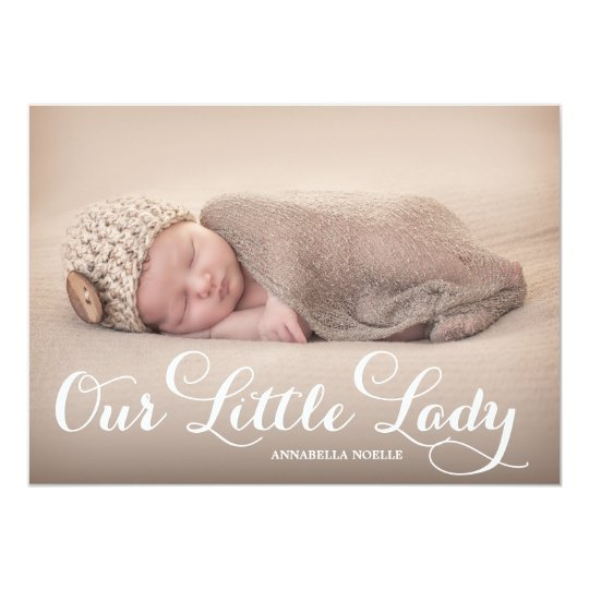 Our Little Lady | Birth Announcement
