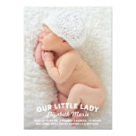 Our Little Lady Birth Announcement 13 Cm X 18 Cm Invitation Card