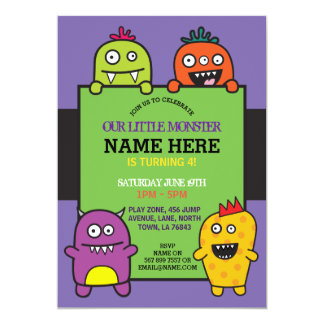 Our Little Monster Birthday Party Fun Invite