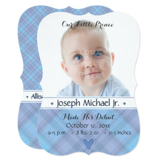 Our Little Prince Baby Boy Birth Announcement