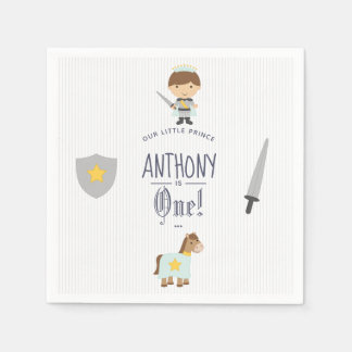 Our Little Prince Birthday Party Paper Napkins