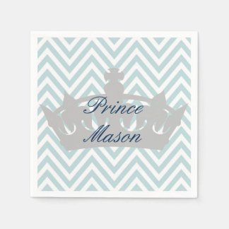 Our Little Prince is Turning 1 Birthday Napkins Paper Napkin