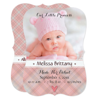 Our Little Princess Baby Girl Birth Announcement