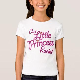 Our Little Princess named girls ringer t-shirt