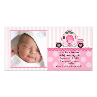 Our Little Princess PHOTO Birth Announcement Custom Photo Card