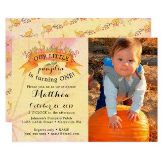 Our Little Pumpkin Birthday Invitation