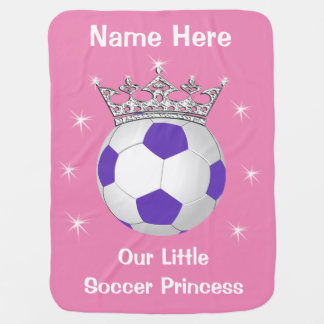 Our Little Soccer Princess Baby Blanket YOUR TEXT