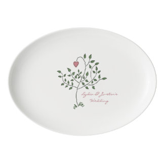 Our Love is Deeply Rooted Wedding Porcelain Serving Platter