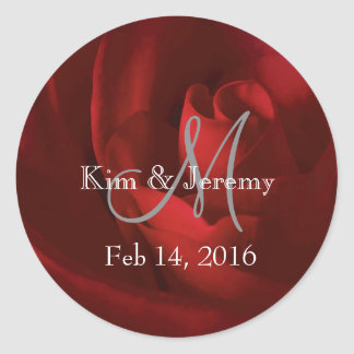 Our Love Romantic Save the Date Round Sticker
