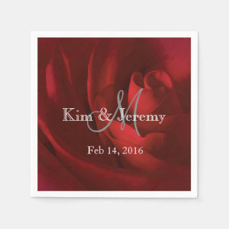 Our Love Romantic Wedding Personalized Paper Napkin