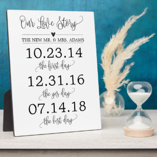 Our Love Story Timeline Wedding Sign Decor Plaque