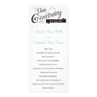Our Love Story Wedding Program Customized Rack Card