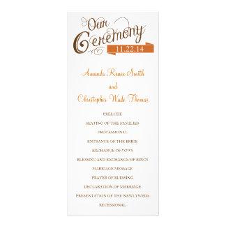 Our Love Story Wedding Program Rack Card