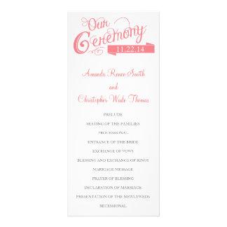 Our Love Story Wedding Program Rack Cards