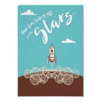 Our love takes off for the Stars Poster