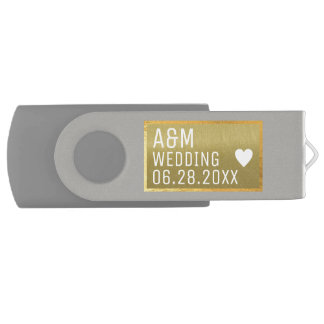 our memorable wedding photos saved on a USB flash drive