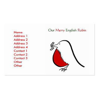 Our Merry English Robin Pack Of Standard Business Cards