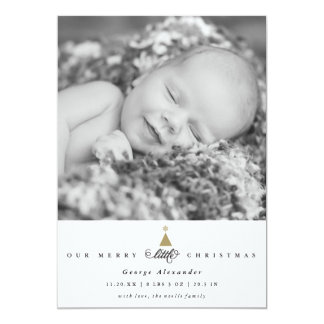 Our Merry Little Christmas Baby Announcement Card