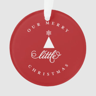 Our Merry Little Christmas Baby Photo Ornament