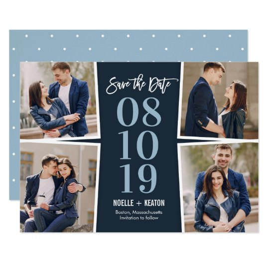 Our Moments EDITABLE COLOR Save The Date Card