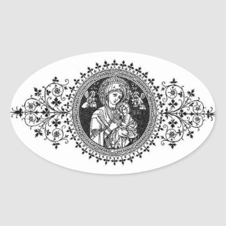 Our Mother of Perpetual Help Oval Sticker