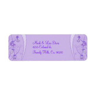 Our New Addition In Purple Hues Return Address Label