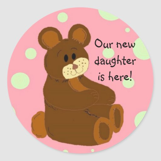 Our new daughter is here! sticker