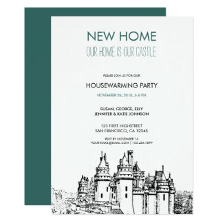 Our new home is our castle Housewarming party Card