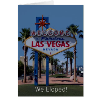 Our newest 2010 Las Vegas We Eloped! Card