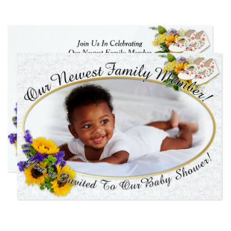 Our Newest Family Member Baby Shower Invite