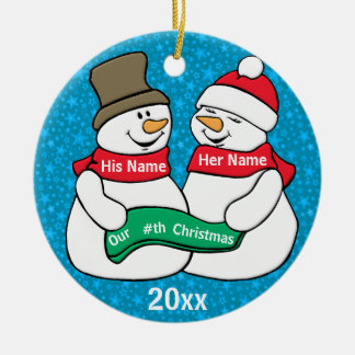 Our Nth Christmas Ceramic Ornament